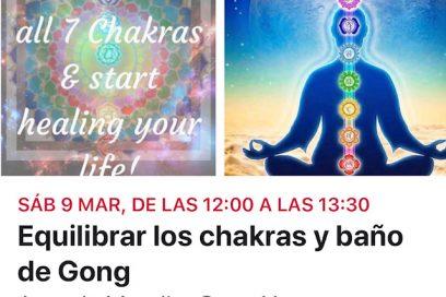 Equilibrar los chakras y baño de gong