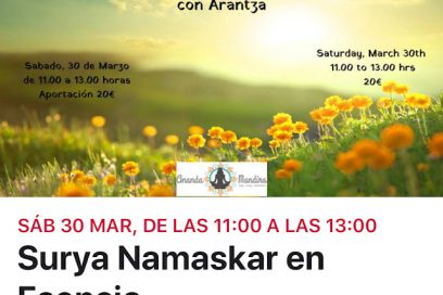 Sūrya Namaskāra en esencia con Arantza